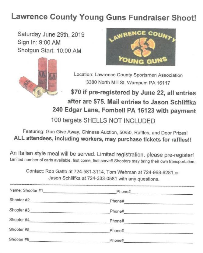 Keystone Ramblers - Lawrence County Young Guns Fundraiser Shoot